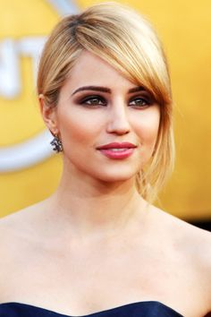 Using Chanel Intense Eye Pencil in Ambre to outline the eye, Chanel makeup artist Kate Lee applied cinnamon- and gray-toned shadow along Dianna Agron's lids