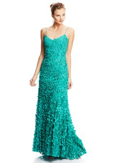 THEIA Petal Embellished Slip Gown http://vnlink.co/SW4eCFQ