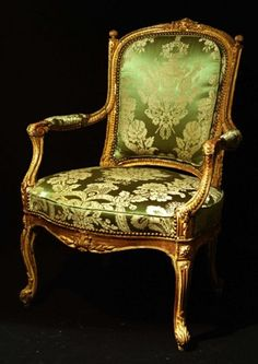Transitional Louis XV/XVI Armchair With Original Water And Oil Gilding - French   c. 18th Century   (Louis XVI Period)