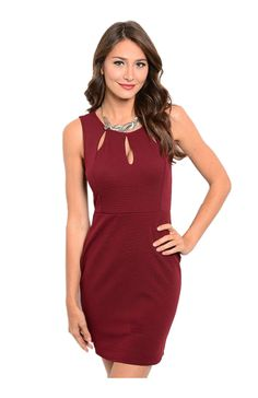 Sleeveless Bodycon Cocktail Dress W/ Cutouts - BodiLove | 30% Off First Order  - 5