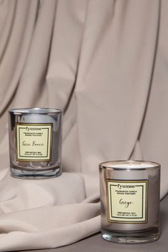Gris Foncé: Luster Dust, Grége: Velvet Rose. We prioritize naturality and hand pour our candles using a natural soy wax blend. Our candles are made of 100% paraffin free vegetable wax. Soy wax has its own off-white color and due to the nature of essential oils, it may discolor over time. Our soy candles are highly scented using the finest ingredients from European fragrance houses.