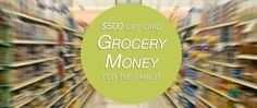 $500 Grocery Shopping Spree for the Family - http://extremecouponprofessors.net/2013/01/500-grocery-shopping-spree-for-the-family/