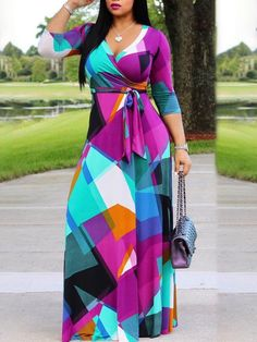 Fadzeco African Dresses For Women Long Dress Long Sleeve Nigerian Traditional Clothing Floral Print Wedding And Party Outfits. Nigerian Traditional Clothing, Traditional Outfits, Maxi Wrap Dress, Maxi Dress With Sleeves, Maxi Dresses, Slit Dress, Long Dresses, Shweshwe Dresses, Cheap Dresses