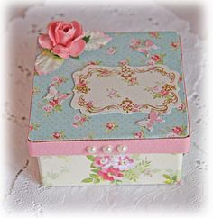 Vintage decorated box