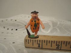 Fred Flintstone Tinykins Hanna Barbera Marx Toys Tv-Tinykins Miniature Figurine #Marx