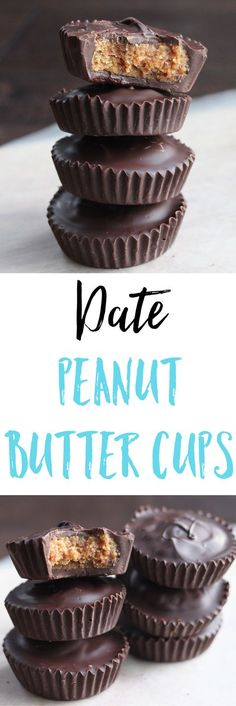 These antioxidant rich Date Peanut Butter Cups use naturally sweet dates as the main source of sugar and are a delicious and healthy treat. via @euphorianutr