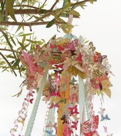 Love this for over a table for a Birthday celebration or a shower....May Pole, I LOVE MAY POLES