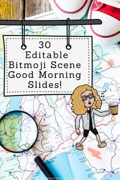 Editable Distance Learning 30 Different Photo Settings High School Classroom, Online Classroom, Math Math, Math Fractions, Math Games, Daily Agenda, Responsive Classroom, Math Graphic Organizers, Teacher Tools