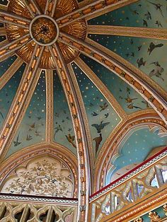 The ceiling at Castel Coch.