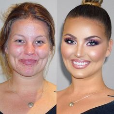Divki sdílejí své fotky před po aplikaci make-up. Divki sdílejí své fotky před po aplikaci make-up.Наши планы и ответы Hair Transformation, Beauty Make-up, Beauty Hacks, Hair Beauty, Beauty Tips, Make Up Looks, Bridal Makeup, Wedding Makeup, Makeup Looks