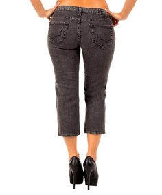 Love this Gray Denim Capri Jeans on #zulily! #zulilyfinds