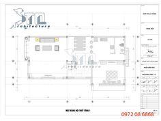Mặt bằng tầng 1 biệt thự cổ điển 3 tầng mái thái 150m2
