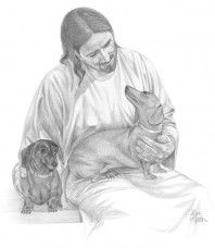 Dachshunds and Jesus!  oh my goodness!