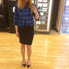 Plaid and houndstooth - women's fashion