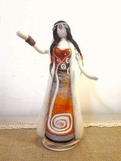 Wet Felting, Needle Felting, Felt Art, Buisness, American Indians, Goddesses, Crafty, Wool, Baby Dolls