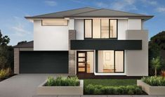 Aegean Series - Double Storey New Home Designs Double Storey House, New Home Designs, Salvador, Townhouse, Facade, New Homes, Floor Plans, House Design, Display