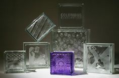 Etching Glass Blocks