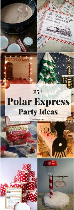 Express Party Ideas - a fun themed party this holiday. via Express Party Ideas - a fun themed party this holiday. via Polar Express Party Printables Polar Express Party, Polar Express Christmas Party, Ward Christmas Party, Christmas Birthday Party, Polar Express Games, The Polar Express, Polar Express Crafts, Family Christmas, Office Christmas Party