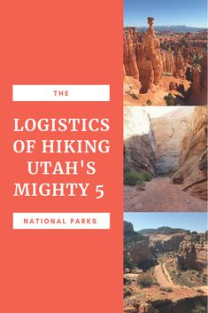 I remembered how everyone said hiking Utah's 5 National Parks was not easily done. Utah Hiking Trails, Hiking Tips, Misty Eyes, Us Road Trip, Us National Parks, Travel Activities, Travel Usa, Travel Tips, Travel Images