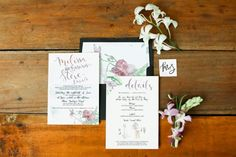 This wedding's color palette: black, white and radiant orchid! <3 A minimalist set with your not-so-usual colors.   Photo: Blinkbox Photos     #watercolorinvite #weddinginviteph #wedding #weddingsph #watercolorph #calligraphy #calligraphyph #cebucalligraphy #calligrapher #flourishforum #handwritten #handdrawn #artinvite #art #rsvp #brushcalligraphy #love #passion #firstofaprildesigns #firstofaprilinvites #FOAinvites #firstofapril