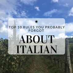 Top 10 Rules You Probably Forgot About Italian