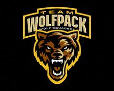 Team Wolfpack  Logo Design | More logos http://blog.logoswish.com/category/logo-inspiration-gallery/ #logo #design #inspiration