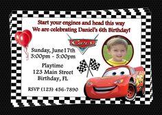 Disney Cars Birthday Invitations Printable Free
