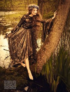 "Vogue Italia July 2012   ""So Full of Dreams""  Photography: Ellen von Unwerth  Model: Eniko Mihalik  Styling: Leith Clark"