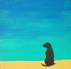 Simple and serene dog art