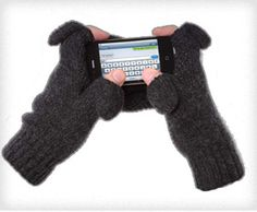 Freehands Knit Gloves