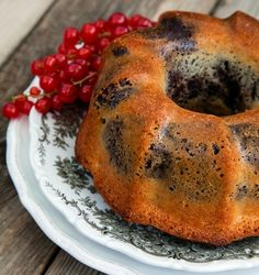 Lemon Blueberry Bundt Cake by Skinny Bitch | Made Just Right by Earth Balance vegan plantbased