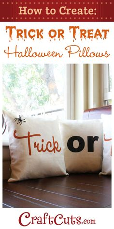Trick or Treat Halloween Pillows | Halloween Crafts | CraftCuts.com