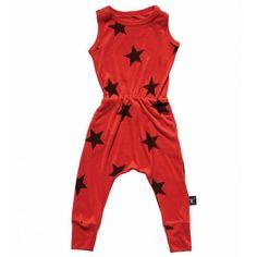 Nununu Flame Red Star Romper