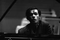 Glenn Gould  during a rehearsal with the Berlin Philarmonic Orchestra in 1957, West Berlin, Erich Lessing Magnum.