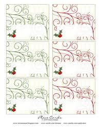 Free Printable Christmas Tree Place Cards FREE Holiday - Christmas place cards template