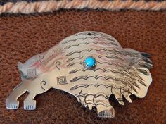 Sterling Buffalo large pendant sterling turquoise Native American jewelry Texas quarter horse southwest jewelry necklace turquoise jewelry by LittleCherokeeValley on Etsy
