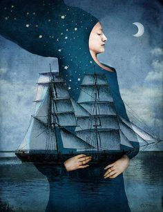 German illustrators Catrin Welz-Stein fairy tale book collage painting