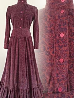 Rare collectible vintage laura ashley 70s museum pelican & ram victorian corduroy maxi dress uk 10 - 12 US 6 - 8 by LovelyLauraAshley on Etsy https://www.etsy.com/listing/226169129/rare-collectible-vintage-laura-ashley