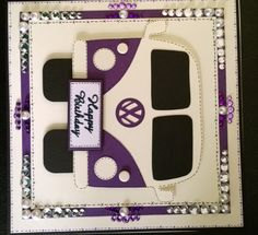 Vw bug card hand made by Leanne roebuck