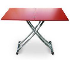 Optez pour cette Table Basse Relevable CANNES Rouge Mat au meilleur prix ! - LeKingStore