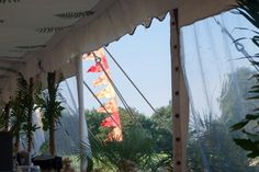 Fern roof lining within one of our traditional tents.  Love this pic :-)