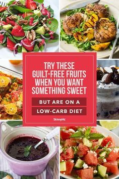 Try these delicious guilt-free fruits when you're craving something sweet all while remaining true to your low-carb diet. Low Carb Dinner Recipes, Healthy Recipes, Yummy Recipes, Keto Recipes, Craving Sweets, Free Fruit, Meal Plans To Lose Weight, Meal Prep For The Week, Proper Diet