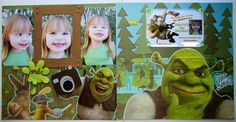 Carol's Creations: Smile, Swing on over to Celebrate Jaidyn's 3rd Birthday Shrek 2 Party 2 Page Layout