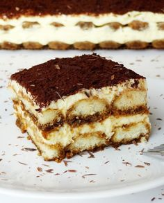 Classic Tiramisu--I made it, and the consistency was definitely way more loose than this photo. Too much liqueur, and my lady fingers were of a small, more spongy variety, and became soggy. I'll try it again someday with modifications.