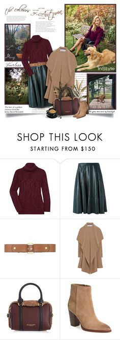 """""""The Face Of a Golden Retriever Feels Like Home"""" by thewondersoffashion ❤ liked on Polyvore featuring Theyskens' Theory, Drome, Marni, Harris Wharf London, Burberry and Sam Edelman"""