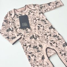 Puppy Print Jumpsuit for Baby Girls