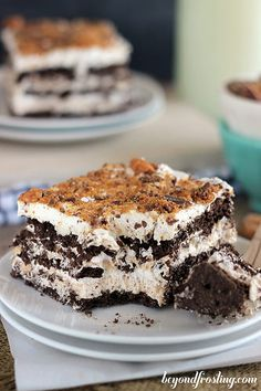 Butterfinger Icebox Cake | beyondfrosting.com | #butterfinger #iceboxcake by Beyond Frosting, via Flickr