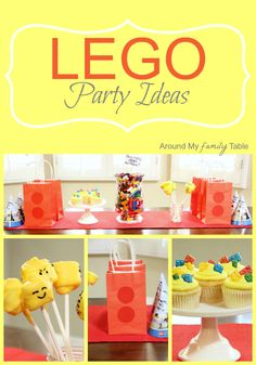 Lego Party Ideas for a budget friendly party.  Everything from invites to cupcakes!