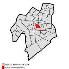 Map - NL - Leiden - Wijk 00 Binnenstad-Zuid - Buurt 00 Pieterswijk - Wijken en buurten in Leiden - Wikipedia Leiden, Spiderman, Superhero, Fictional Characters, Art, Spider Man, Art Background, Kunst, Performing Arts