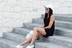 Black & White summer women's outfit